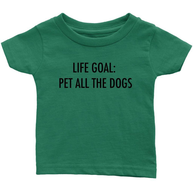 Life Goal: Pet All The Dogs Baby Tee-Grass Green-Woofingtons