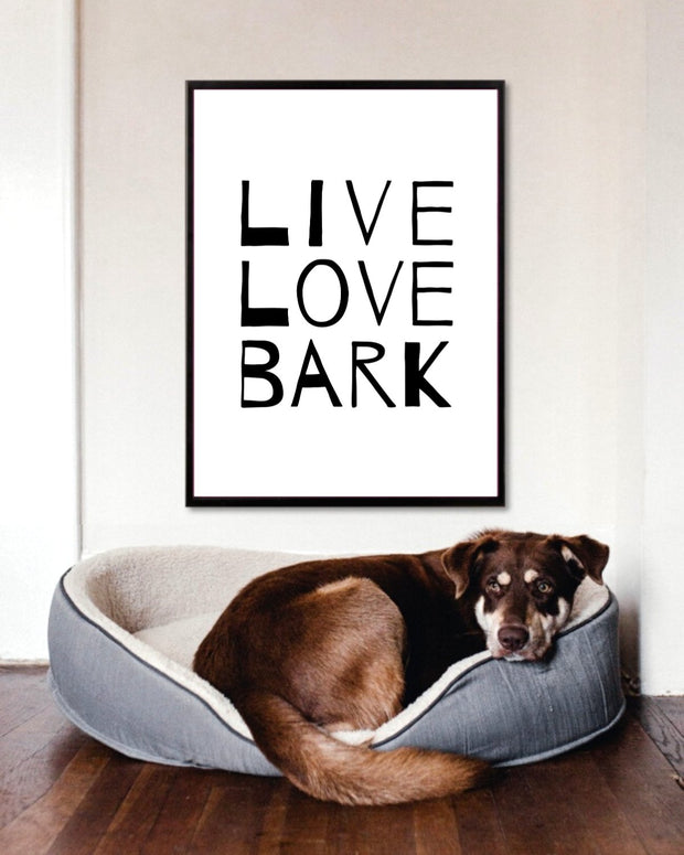 Live Love Bark Art Poster 18x24 Woofingtons