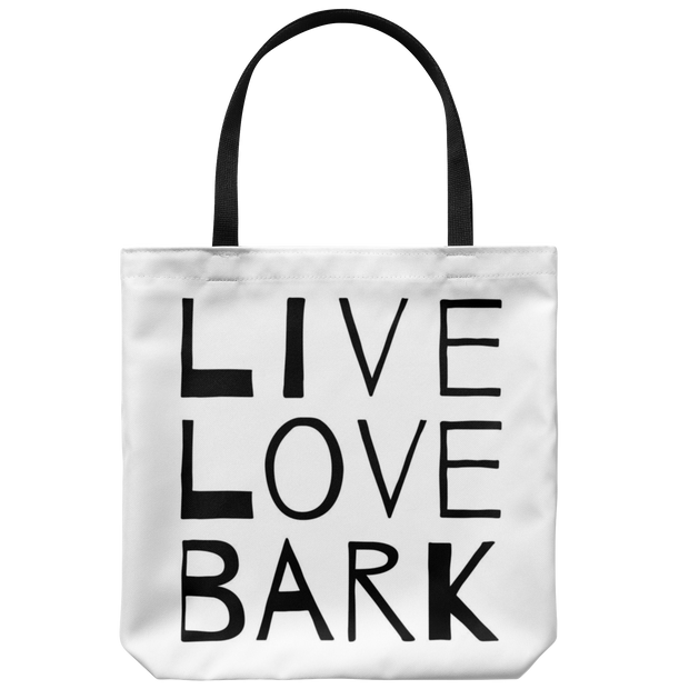 Live Love Bark Tote Bag Tote Bag Woofingtons