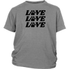 Love Love Love Paw Print Youth Tee District Youth Shirt Woofingtons