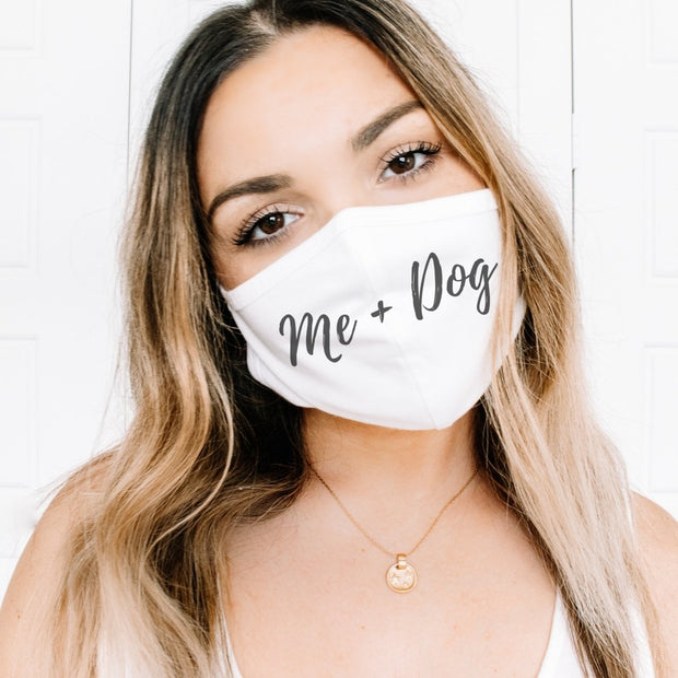 Me & Dog Fabric Face Mask-Apparel-One size-Woofingtons