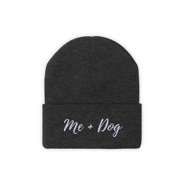 Me & Dog Knit Beanie-Apparel-Black-Woofingtons