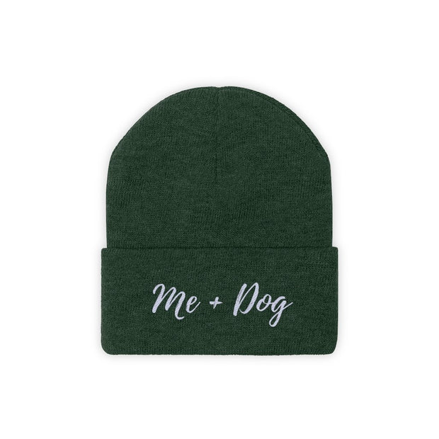 Me & Dog Knit Beanie-Apparel-Forest Green-Woofingtons