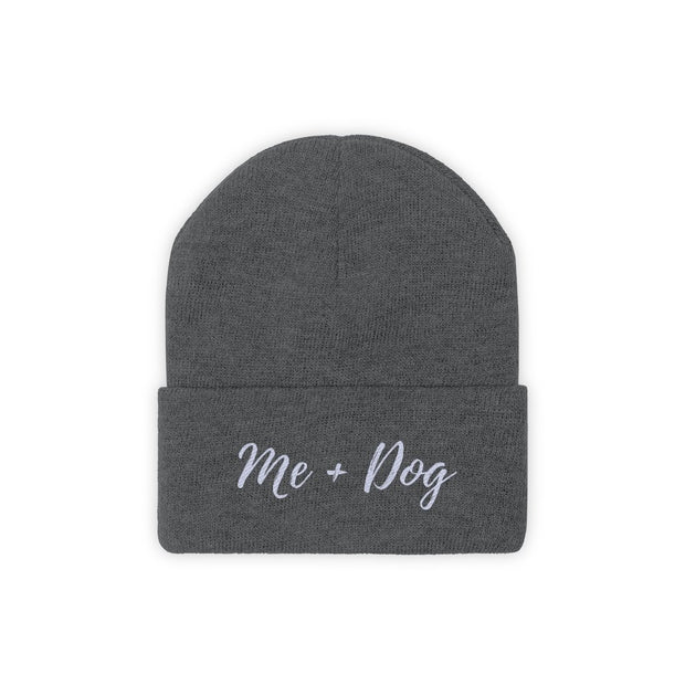 Me & Dog Knit Beanie-Apparel-Graphite Heather-Woofingtons