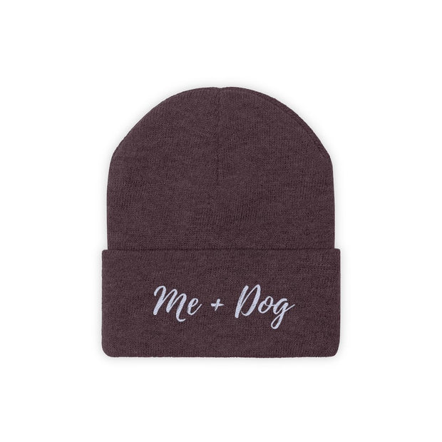 Me & Dog Knit Beanie-Apparel-Maroon-Woofingtons