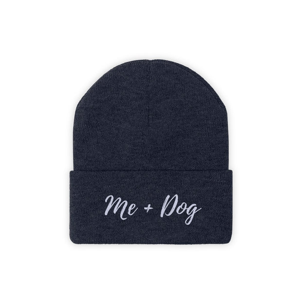 Me & Dog Knit Beanie-Apparel-True Navy-Woofingtons