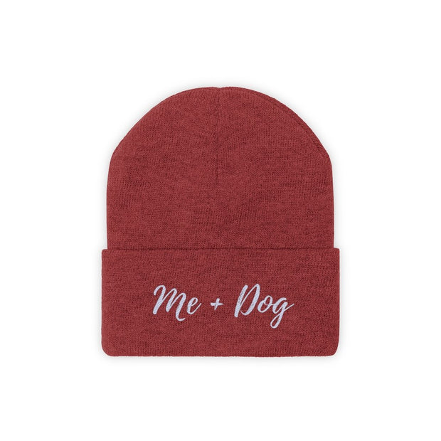 Me & Dog Knit Beanie-Apparel-True Red-Woofingtons