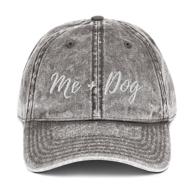 Me & Dog Vintage Cotton Twill Cap-Apparel-Charcoal Grey-Woofingtons