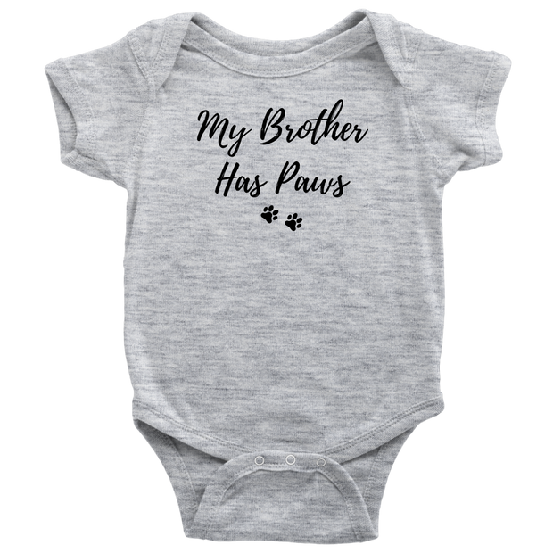 My Brother Has Paws Baby Onesie Baby Bodysuit Woofingtons