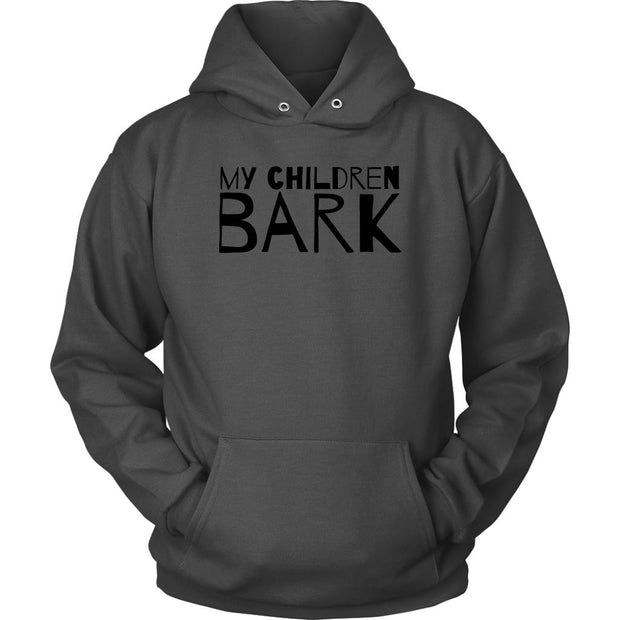 My Children Bark Unisex Hoodie-Charcoal-Woofingtons