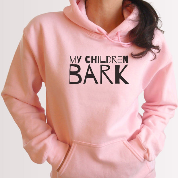 My Children Bark Unisex Hoodie Grey Woofingtons