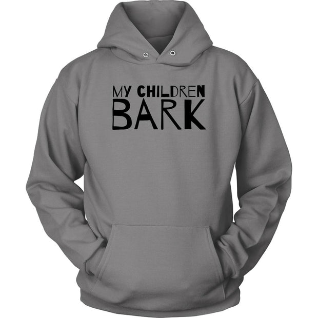 My Children Bark Unisex Hoodie-Grey-Woofingtons