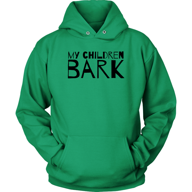 My Children Bark Unisex Hoodie-Kelly Green-Woofingtons