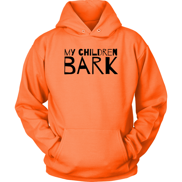 My Children Bark Unisex Hoodie-Neon Orange-Woofingtons