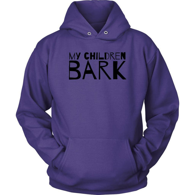My Children Bark Unisex Hoodie-Purple-Woofingtons