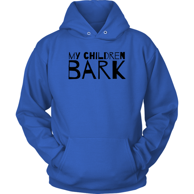 My Children Bark Unisex Hoodie-Royal Blue-Woofingtons