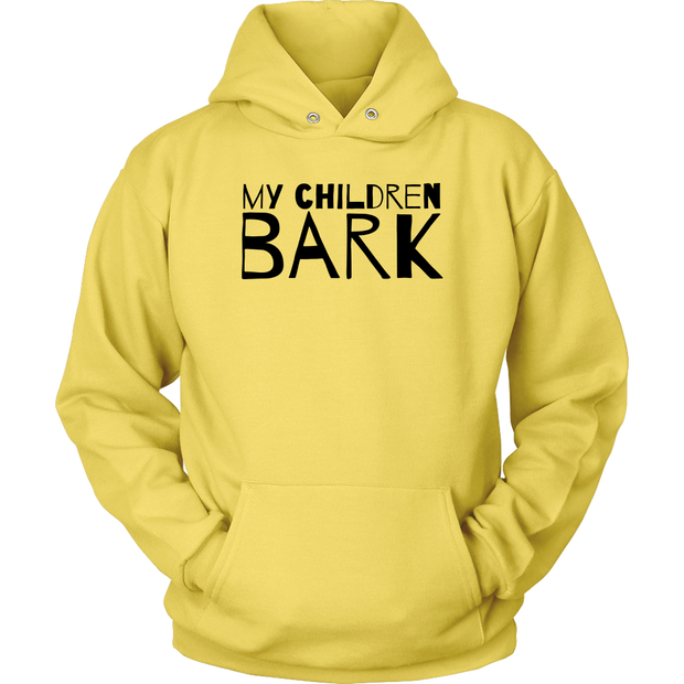 My Children Bark Unisex Hoodie-Yellow-Woofingtons