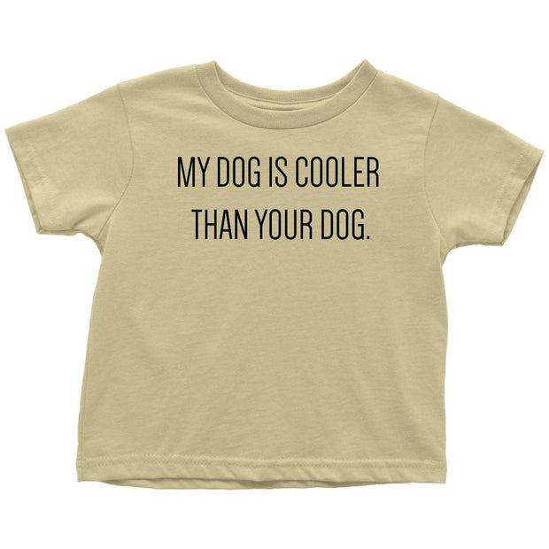 My Dog Is Cooler Toddler Tee-Lemon-Woofingtons