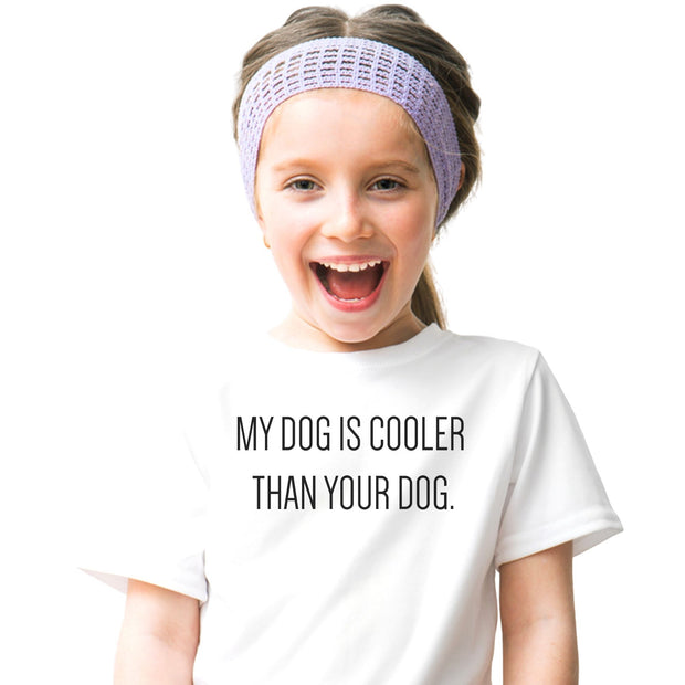 My Dog Is Cooler Youth Tee White Woofingtons