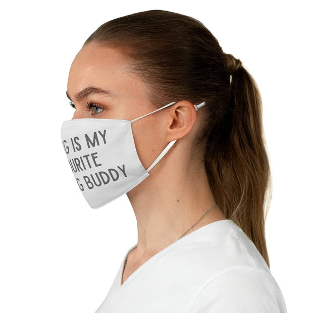 My Dog Is My Favourite Drinking Buddy Fabric Face Mask-Apparel-One size-Woofingtons