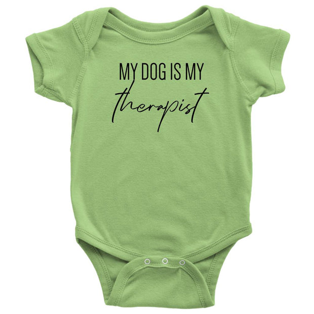 My Dog Is My Therapist Baby Onesie-Keylime-Woofingtons