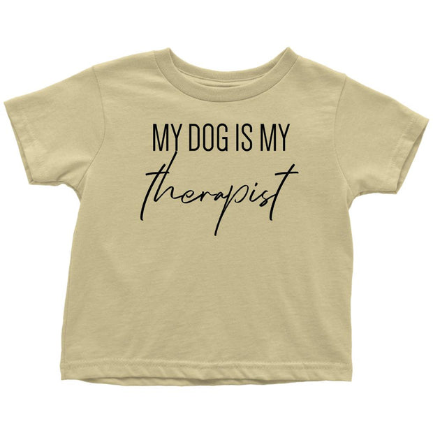 My Dog Is My Therapist Toddler Tees-Lemon-Woofingtons