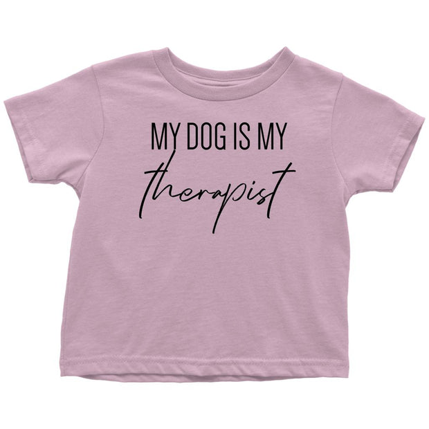 My Dog Is My Therapist Toddler Tees-Pink-Woofingtons