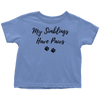My Siblings Have Paws Toddler Tee Toddler T-Shirt Woofingtons