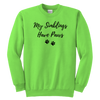 My Siblings Have Paws Youth Sweatshirt Youth Crewneck Sweatshirt Woofingtons