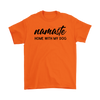 Namaste Home With My Dog Mens Tee Gildan Mens T-Shirt Woofingtons