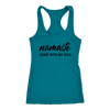 Namaste Home With My Dog Tank Top Next Level Racerback Tank Woofingtons