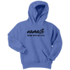 Namaste Home With My Dog Youth Hoodie Youth Hoodie Woofingtons