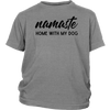 Namaste Home With My Dog Youth Tee District Youth Shirt Woofingtons