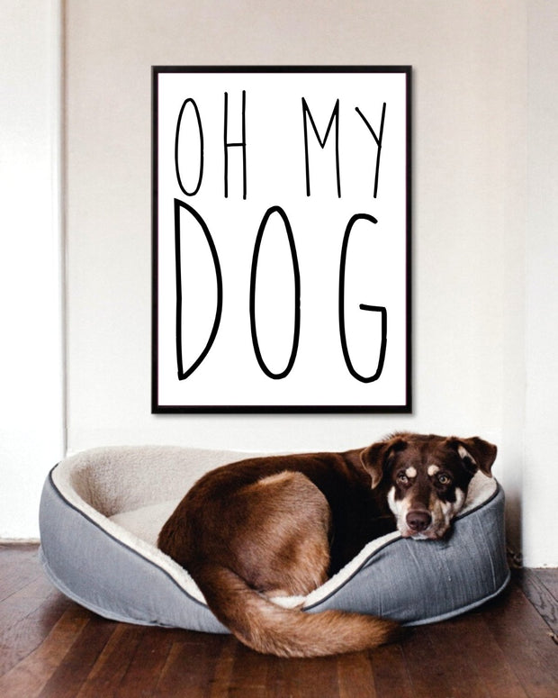 Oh My Dog Art Poster 18x24 Woofingtons