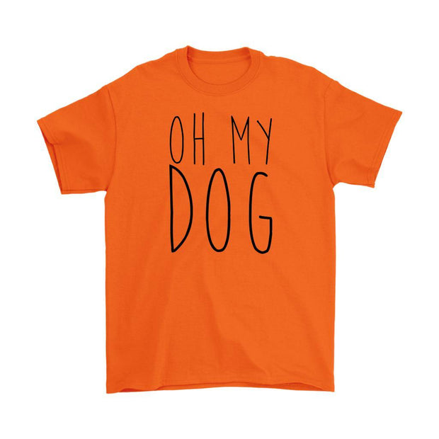 Oh My Dog Mens Tee-Orange-Woofingtons