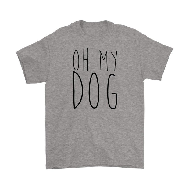 Oh My Dog Mens Tee-Sport Grey-Woofingtons