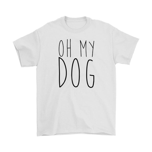 Oh My Dog Mens Tee-White-Woofingtons