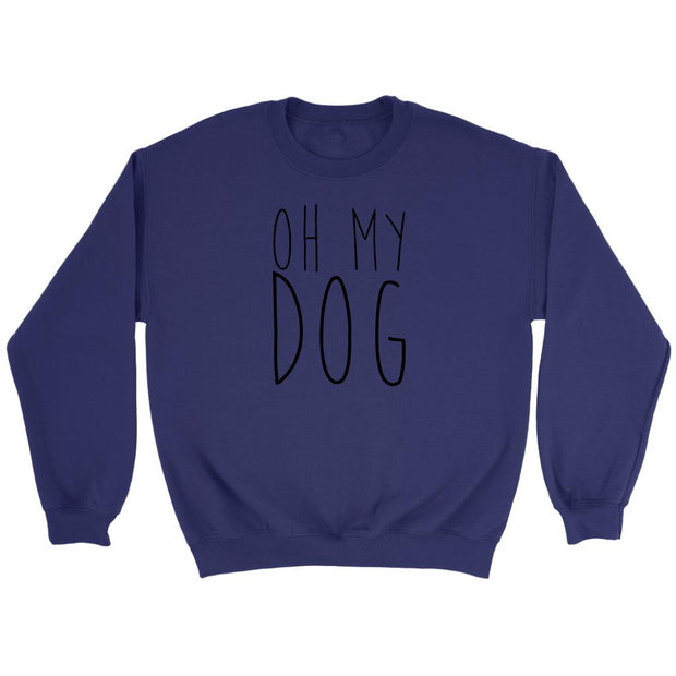 Oh My Dog Unisex Sweatshirt-Purple-Woofingtons