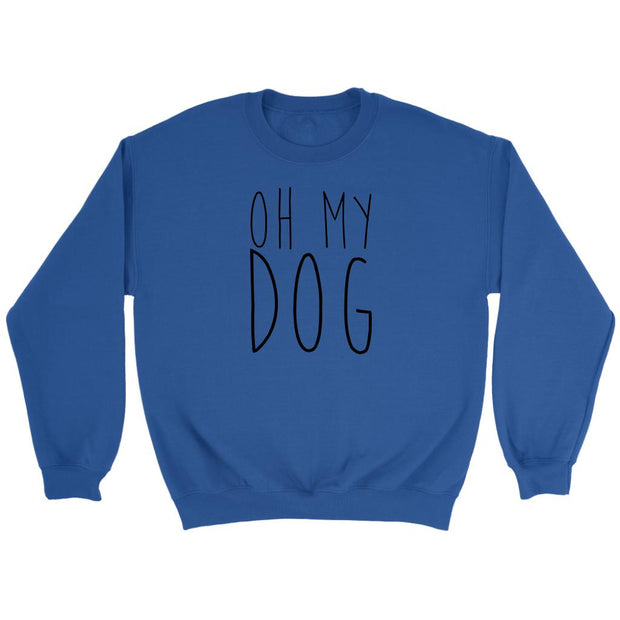 Oh My Dog Unisex Sweatshirt-Royal-Woofingtons