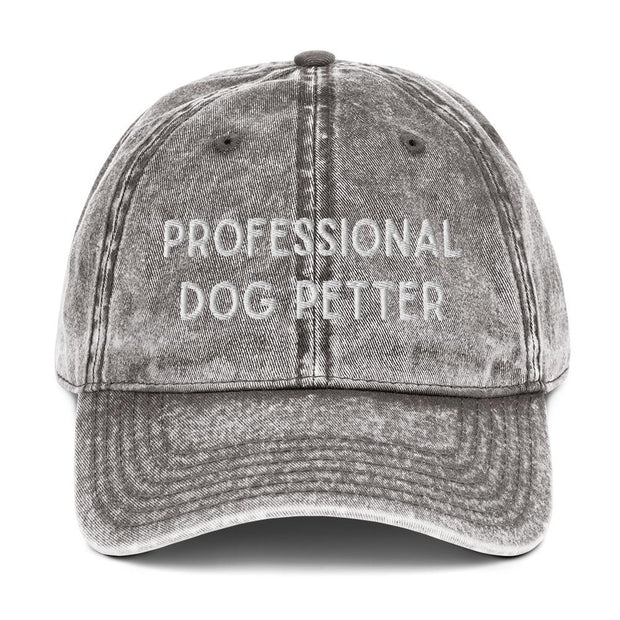 Professional Dog Petter Vintage Cotton Twill Cap-Apparel-Charcoal Grey-Woofingtons