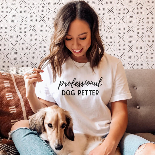 Professional Dog Petter Womens Tee Gildan Womens T-Shirt Woofingtons