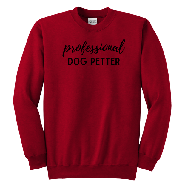 Professional Dog Petter Youth Sweatshirt Youth Crewneck Sweatshirt Woofingtons