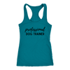 Professional Dog Trainer Tank Top Next Level Racerback Tank Woofingtons