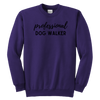 Professional Dog Walker Youth Sweatshirt Youth Crewneck Sweatshirt Woofingtons