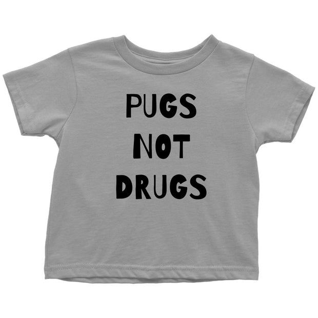 Pugs Not Drugs Toddler Tees-Slate-Woofingtons