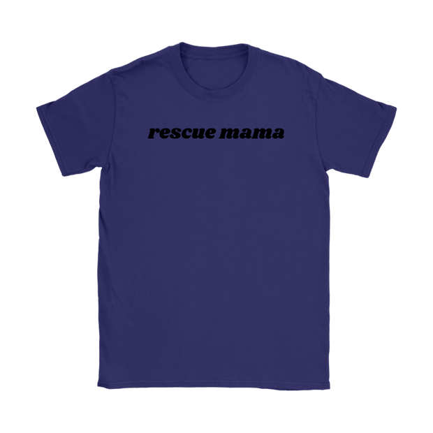 Rescue Mama Womens Tee Gildan Womens T-Shirt Woofingtons