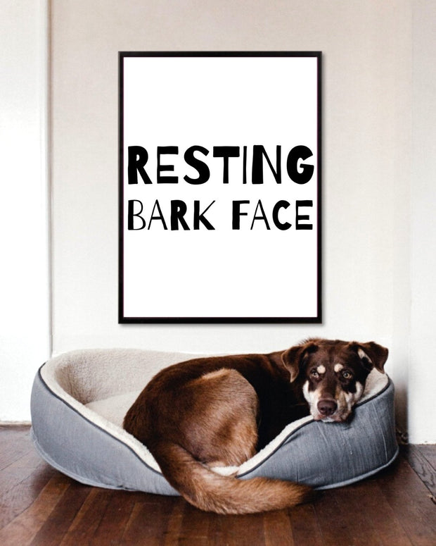 Resting Bark Face Art Poster 18x24 Woofingtons