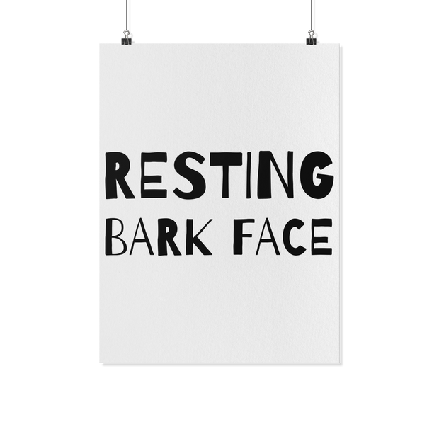 Resting Bark Face Art Poster-dog-lover-gift