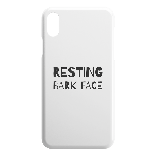 Resting Bark Face iPhone Case-iPhone X XS-Woofingtons