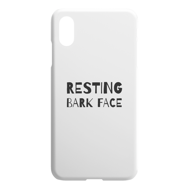 Resting Bark Face iPhone Case-iPhone X XS Max-Woofingtons